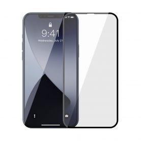 Pachet 2 folii de sticla pentru iPhone 12 Pro Max, Baseus Tempered Glass, Filtru lumina albastra, 6.7 inch
