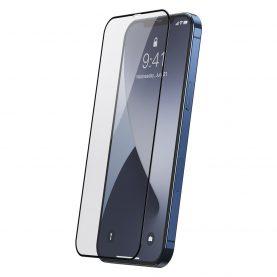 Pachet 2 folii de sticla pentru iPhone 12 Pro Max, Baseus Tempered Glass, Grosime 0.25 mm, Transparent