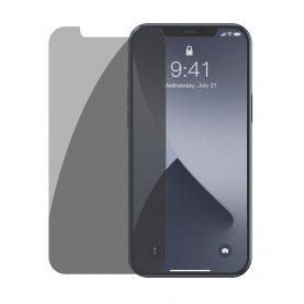 Pachet 2 folii de sticla pentru iPhone 12 / 12 Pro, Tenta fumurie, Privacy Glass, 6.1 inch