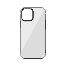 Husa Apple iPhone 12 / 12 Pro, Baseus Glitter, Negru / Transparent, 6.1 inch