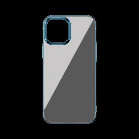 Husa Apple iPhone 12 / 12 Pro, Baseus Glitter, Albastru / Transparent, 6.1 inch