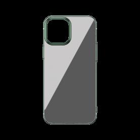 Husa Apple iPhone 12 / 12 Pro, Baseus Glitter, Verde / Transparent, 6.1 inch
