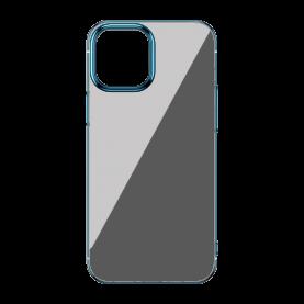 Husa Apple iPhone 12 Pro Max, Baseus Glitter, Transparent / Albastru, 6.7 inch