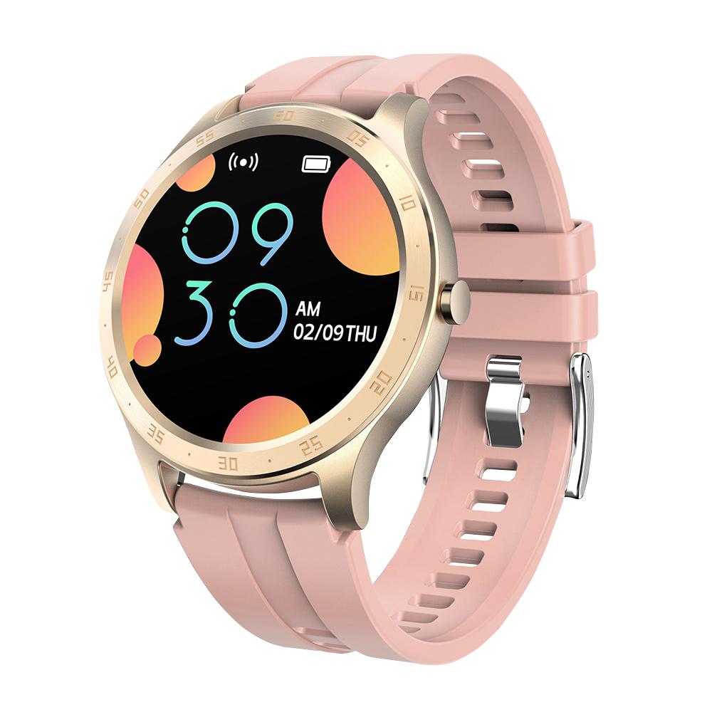 Ceas smartwatch Twinkler TKY-S20, Roz, Notificari, Pedometru, Moduri sportive, Cronometru imagine
