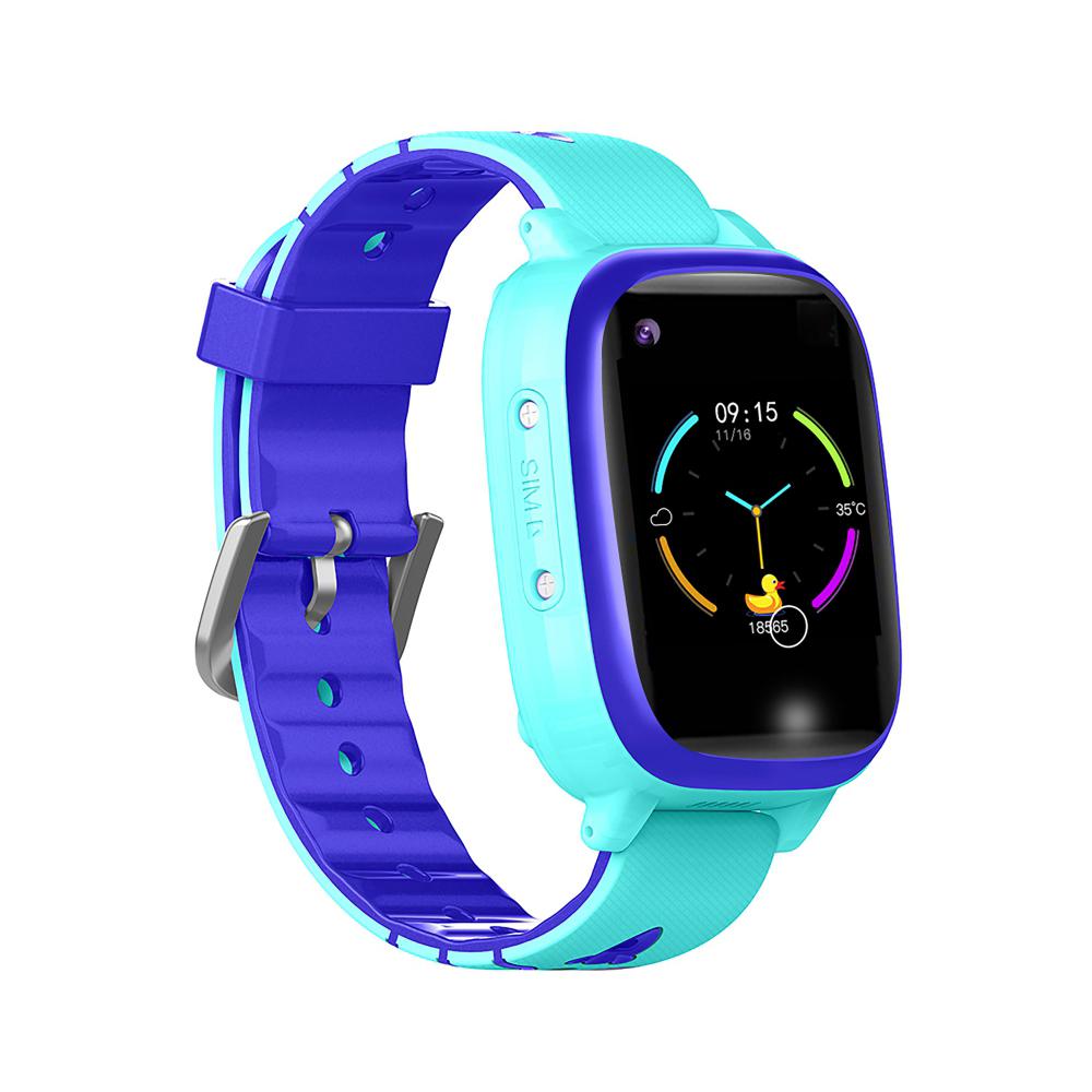 Ceas smartwatch YQT T5S, 4G, Albastru, Masurarea temperaturii, Pedometru, Verificare istoric, Alarma, Lanterna imagine