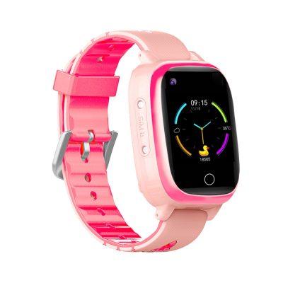 Ceas smartwatch YQT T5S, 4G, Roz, Masurarea temperaturii, Pedometru, Verificare istoric, Alarma, Lanterna