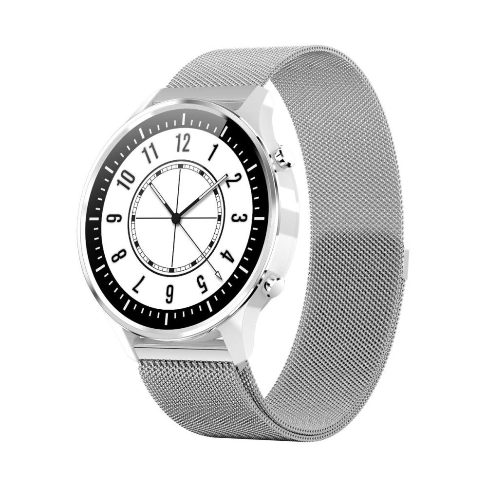 Ceas Smartwatch Twinkler TKY-G21, Argintiu, Memento sedantar, Notificari Apel, SMS, 8 Moduri sportive imagine