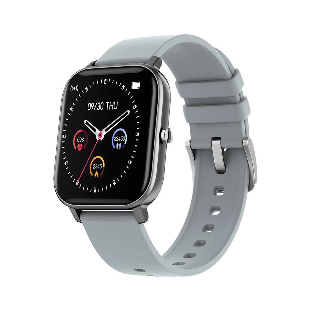 Ceas Smartwatch Twinkler TKY-P8, Gri, Masurare ritm cardiac, Pedometru, Moduri sportive, Memento sedentar imagine