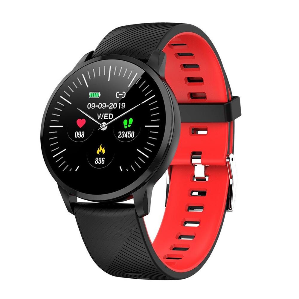 Ceas Smartwatch Twinkler TKY-S16, Rosu si Negru, Monitorizare ritm cardiac, Tensiune arteriala, Calorii, Distanta parcursa imagine