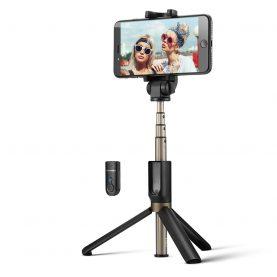 Selfie stick BlitzWolf BW-BS3, Negru, Cu trepied, Portabil, 3 in 1, Bluetooth 3.0