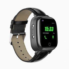 Ceas smartwatch YQT T5S, 4G, Negru, Masurarea temperaturii, Pedometru, Verificare istoric, Alarma, Lanterna