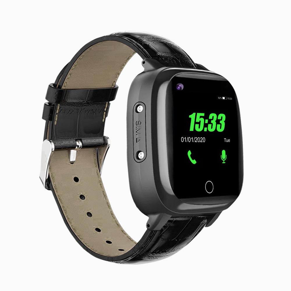 Ceas smartwatch YQT T5S, 4G, Negru, Masurarea temperaturii, Pedometru, Verificare istoric, Alarma, Lanterna imagine
