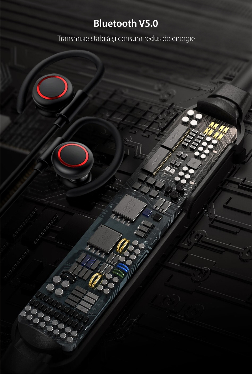 Casti in-Ear Baseus Encok S17, Alb, Wireless, Bluetooth 5.0, Rezistenta IPX5
