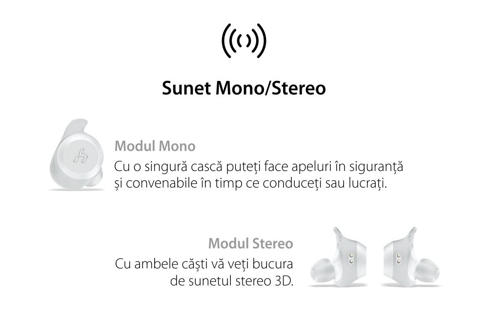 Casti in-Ear Havit G1 TWS, Alb, Wireless, Bluetooth 5.0, 90 dB