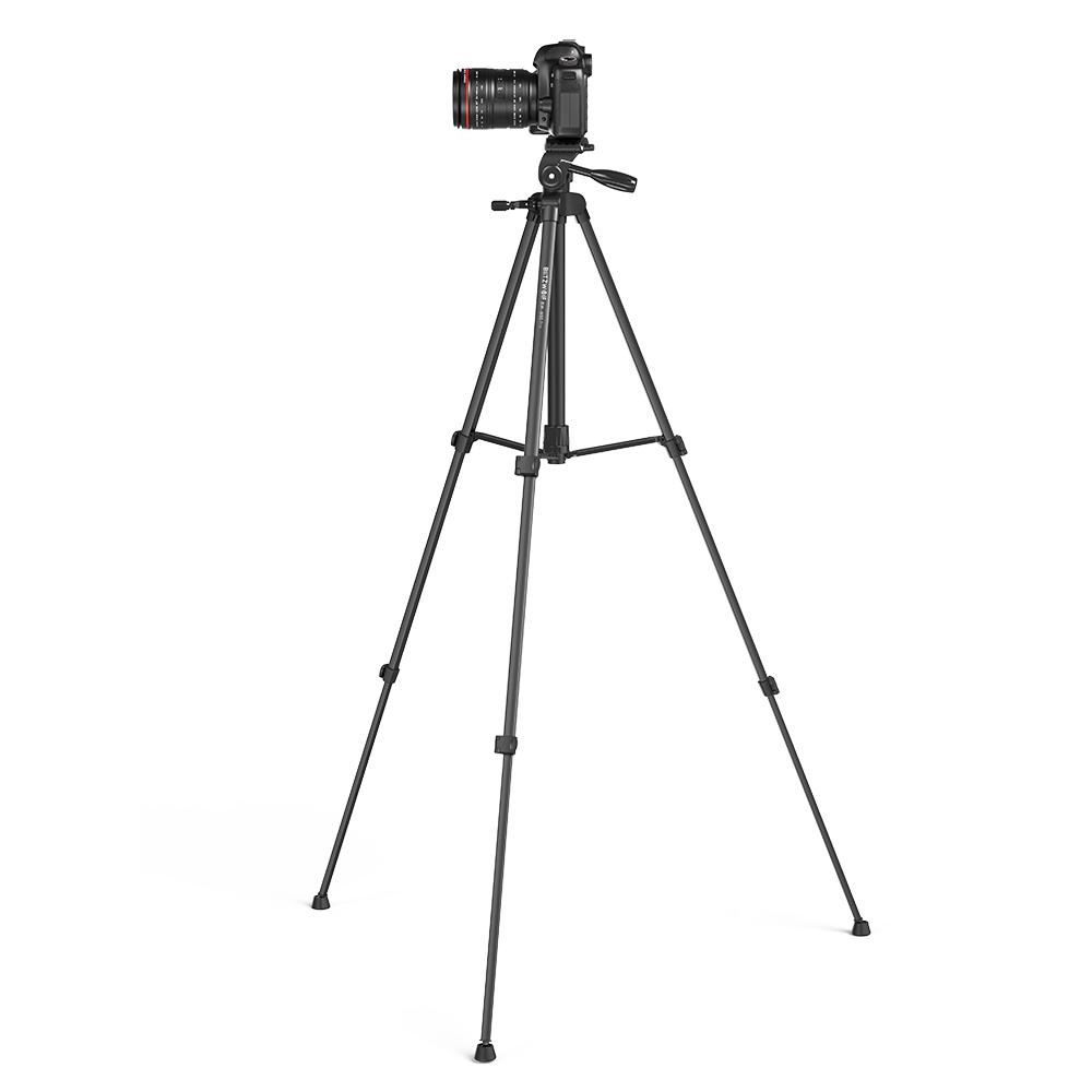 Trepied BlitzWolf BW-BS0 Pro, Negru, Pentru camere si telefoane, Control telecomanda imagine