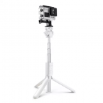 Selfie stick BlitzWolf BW-BS3, Alb, Cu trepied, Portabil, 3 in 1, Multifunctional, Bluetooth 3.0