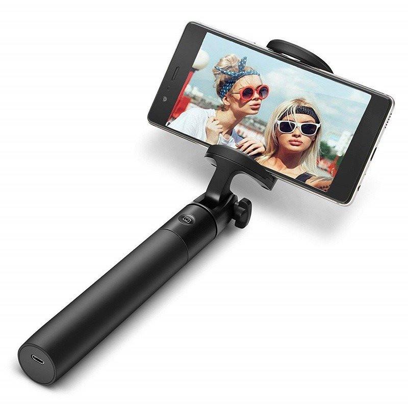 Selfie stick BlitzWolf BW-BS2, Negru, Extensibil, Baterie 50 mAh imagine