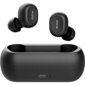 Casti in-Ear QCY T1 TWS, Negru, Wireless, Bluetooth 5.0, Baterie 380 mAh