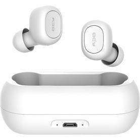 Casti in-Ear QCY T1 TWS, Alb, Wireless, Bluetooth 5.0, Baterie 380 mAh