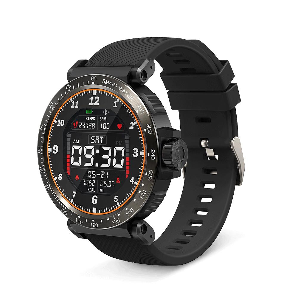 Ceas smartwatch BlitzWolf BW-AT1, Negru, Distanta parcursa, Calorii, 8 Moduri sportive, Pedometru imagine