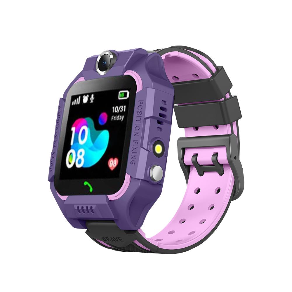 Ceas smartwatch Pentru Copii YQT-Q19W, Mov, Istoric traseu, Localizare GPS, Camera, Lanterna, Pedometru imagine