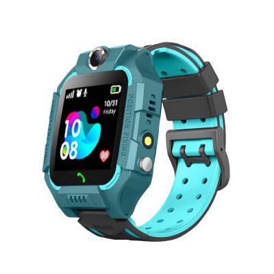 Ceas smartwatch Pentru Copii YQT-Q19W, Verde, Istoric traseu, Localizare GPS, Camera, Lanterna, Pedometru