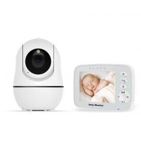 Baby Monitor BS-W32P, 3.2 inch, Comunicare bidirectionala, Vedere nocturna, Cantece de leagan, Modul eco