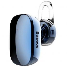 Casca Bluetooth Baseus Encok A02 Mini, Albastru, Bluetooth 4.1, Baterie 60 mAh, Distanta comunicare 10 m