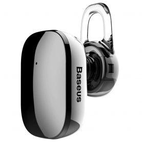 Casca Bluetooth Baseus Encok A02 Mini, Gri, Bluetooth 4.1, Baterie 60 mAh, Distanta comunicare 10 m