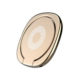 Suport inel magnetic pentru telefon / tableta Baseus Privity Ring, Gold, Rotire 180 de grade