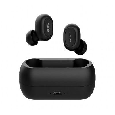 Casti in-Ear QCY T1C, Negru, Wireless, Bluetooth 5.0, Baterie 380 mAh, Timp de incarcare 2 ore