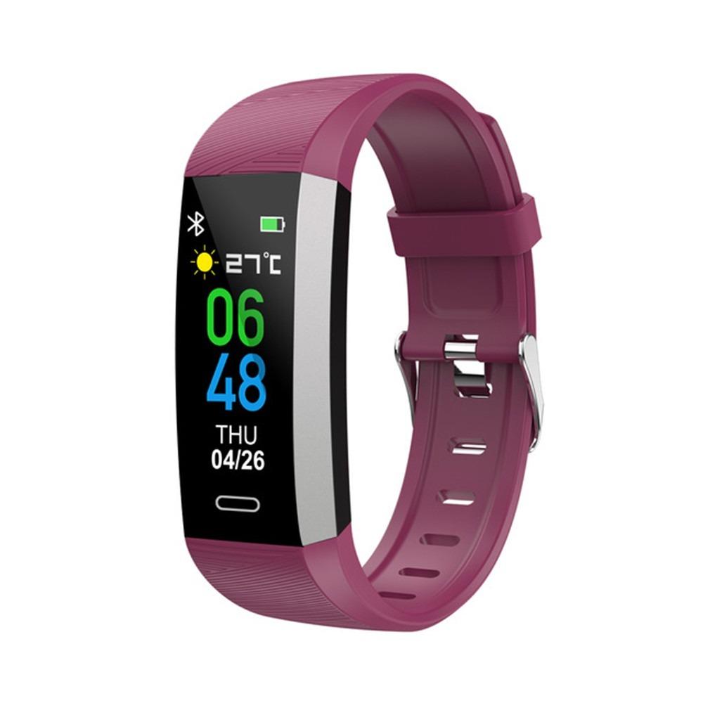 Bratara fitness TKY-S03, Mov, Monitorizare ritm cardiac, Tensiune arteriala, Nivel Oxigen, Pedometru, Notificari imagine