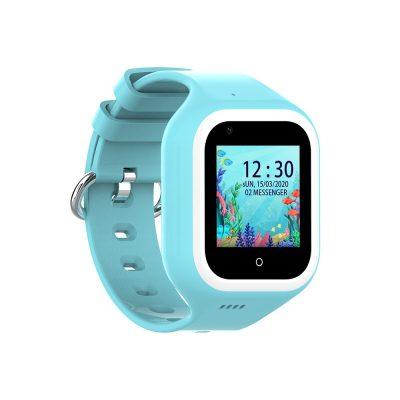 Ceas Smartwatch Pentru Copii, Wonlex KT21, Albastru, SIM card, 4G, Rezistent la apa IP54, Apel video