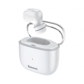 Casca bluetooth Baseus Encok A03, Alb, Distanta comunicare 10 m, Bluetooth 5.0, Timp de incarcare 1.5 ore