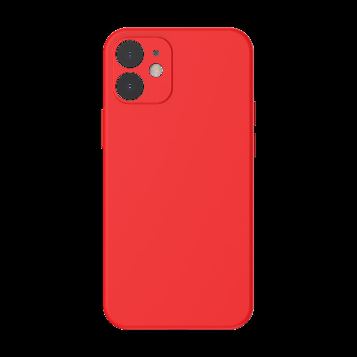 Husa pentru Apple iPhone 12 Mini, Baseus Protective Case, Silicon, Rosu, 5.4 inch imagine