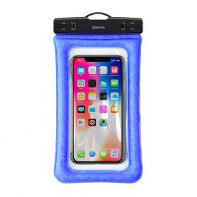 Husa impermeabila universala pentru telefon, Baseus Air Cushion, Albastru, 6.1 inch