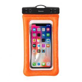 Husa impermeabila universala pentru telefon, Baseus Air Cushion, Portocaliu, 6.1 inch