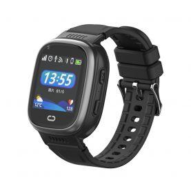 Ceas SmartWatch Pentru Copii Motto LT08, Negru cu Localizare GPS, Camera Foto, Geofence, Istoric, Pedometru, Alarma, Vibratii