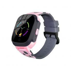 Ceas SmartWatch Pentru Copii Motto LT25, Roz cu Localizare GPS, Termometru, History, Pedometru, Buton SOS, Mesaje vocale & text