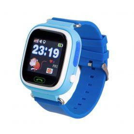 Ceas SmartWatch Pentru Copii Motto TD 02, Albastru cu Pedometru, Geofence, Istoric, Alarma, Localizare GPS, Apel SOS