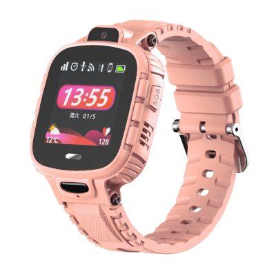 Ceas SmartWatch Pentru Copii Motto TD26, Roz cu Localizare GPS, Waterproof, Apel de urgenta, Chat / voce, Istoric traseu, Pedometru