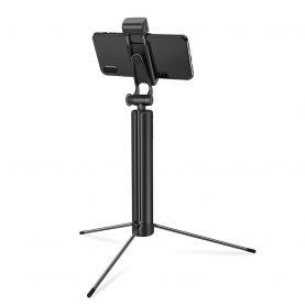 Selfie stick cu trepied BlitzWolf BW-BS8, Extensibil 82 cm, Lanterna LED, Telecomanda bluetooth