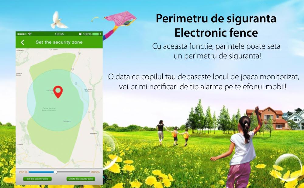 Ceas SmartWatch Pentru Copii Motto TD 01, Albastru cu Lanterna, Localizare GPS, Comunicare bi-directionala, Istoric traseu, Pedometru