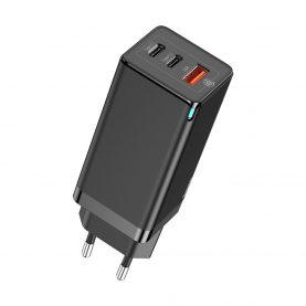 Incarcator universal Baseus GaN Quick Travel, 2 Porturi Type-C, 1 Port USB, Putere max. 65 W
