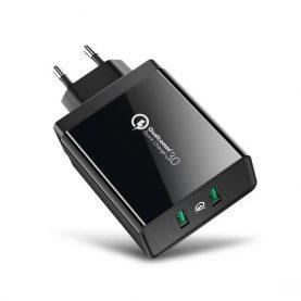 Incarcator universal Ugreen, Negru, 2 Porturi USB, Quick Charge 3.0, Putere totala 36 W