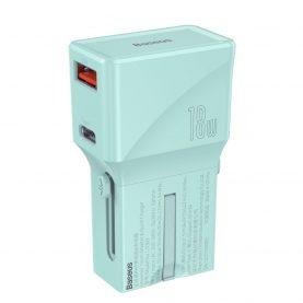 Incarcator universal Baseus, Albastru, Port USB / USB-C, Quick Charge 3.0, 18 W