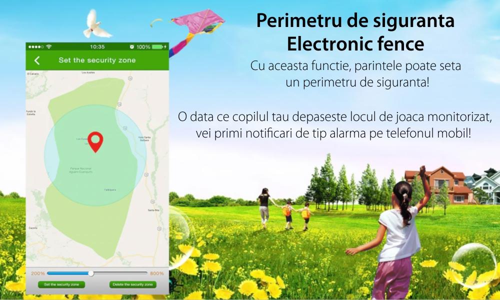 Ceas SmartWatch Pentru Copii Motto TD31, Albastru cu Localizare GPS, Alarma, Telefon, Chat / voce, Geofence, Pedometru