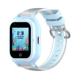 Ceas Smartwatch Pentru Copii, Wonlex KT23, Albastru, Nano SIM, 4G, Pedometru, Localizare GPS, Microfon, Monitorizare & SOS