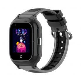Ceas Smartwatch Pentru Copii, Wonlex KT23, Negru, Nano SIM, 4G, Pedometru, Localizare GPS, Microfon, Monitorizare & SOS