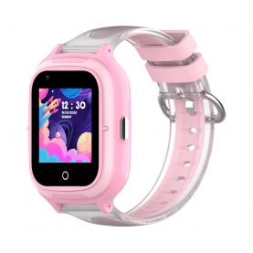 Ceas Smartwatch Pentru Copii, Wonlex KT23, Roz, Nano SIM, 4G, Pedometru, Localizare GPS, Microfon, Monitorizare & SOS
